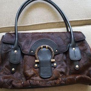 Ferragamo pony hair purse. Vintage